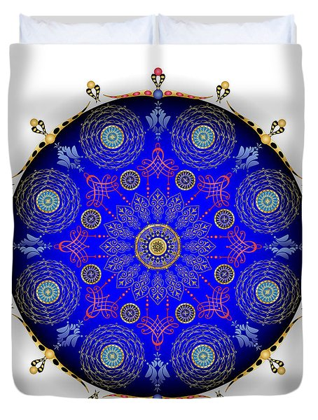 Duvet Cover featuring the digital art Complexical No 1742 by Alan Bennington