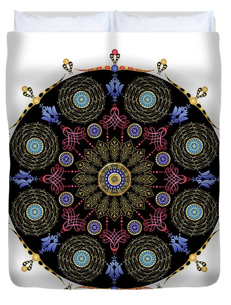 Duvet Cover featuring the digital art Complexical No 1743 by Alan Bennington