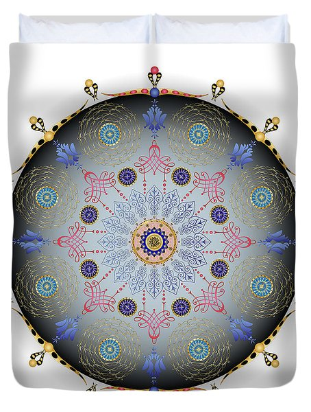 Duvet Cover featuring the digital art Complexical No 1744 by Alan Bennington