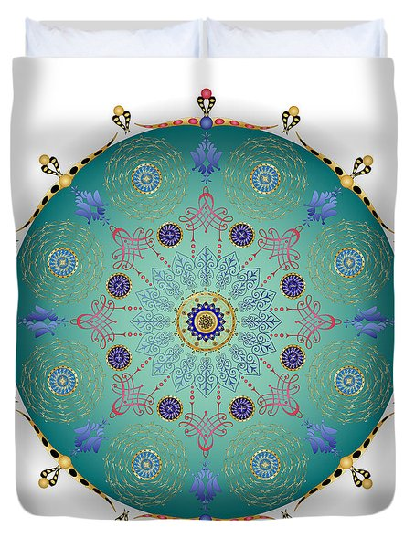Duvet Cover featuring the digital art Complexical No 1745 by Alan Bennington
