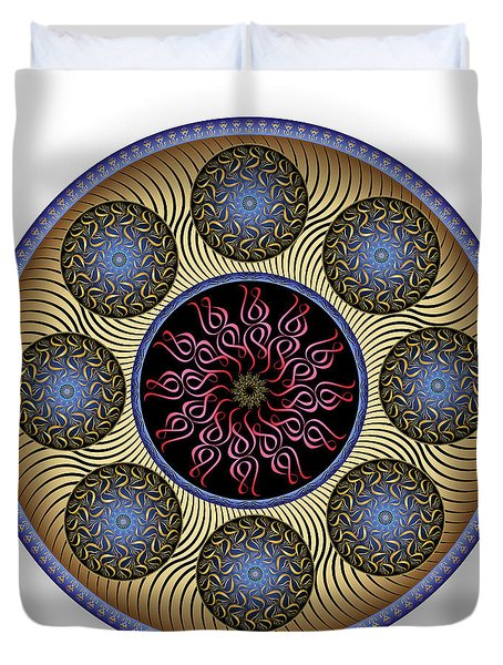Duvet Cover featuring the digital art Complexical No 1756 by Alan Bennington