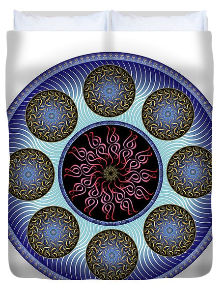Duvet Cover featuring the digital art Complexical No 1757 by Alan Bennington