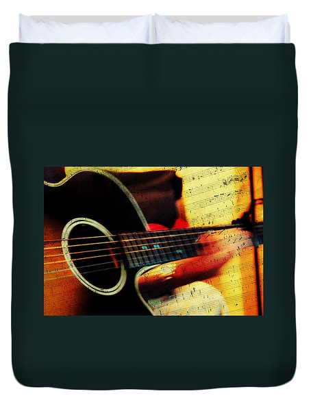 Composing Hallelujah. Music From The Heart  Duvet Cover by Jenny Rainbow