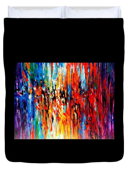 Composition # 4. Series Abstract Sunsets Duvet Cover