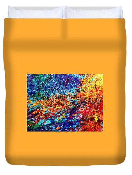 Composition # 5. Series Abstract Sunsets Duvet Cover