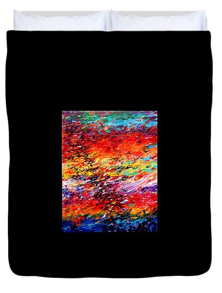 Composition # 6. Series Abstract Sunsets Duvet Cover