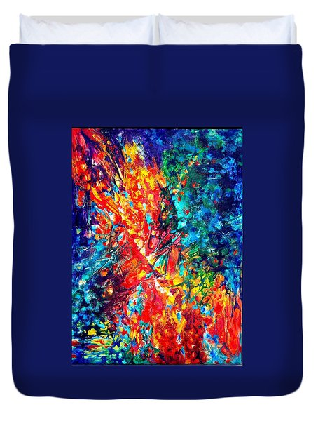 Composition #3. Abstract Sunsets.  Duvet Cover