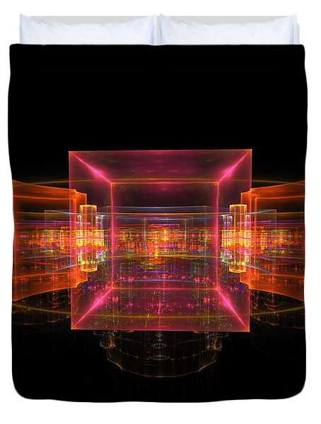 Computer Generated 3d Abstract Fractal Flame Modern Art Duvet Cover by Keith Webber Jr