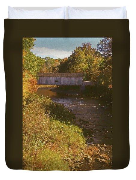 Comstock Covered Bridge Duvet Cover