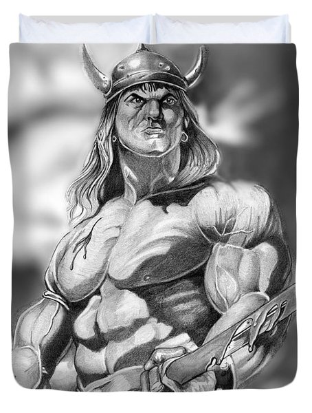 Conan Duvet Cover by Bill Richards