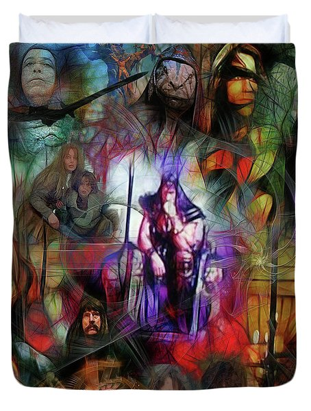 Conan The Barbarian Collage - Square Version Duvet Cover