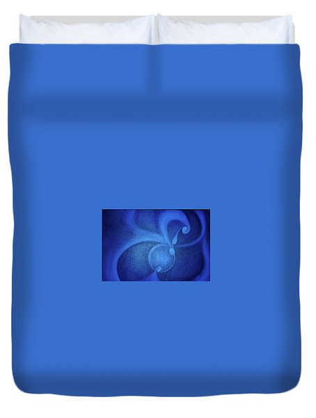 Duvet Cover featuring the painting Conception by Lynn Buettner