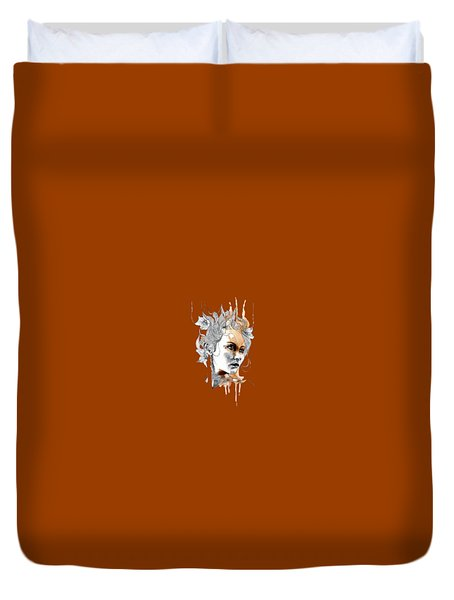 Concerned T-shirt Duvet Cover by Herb Strobino