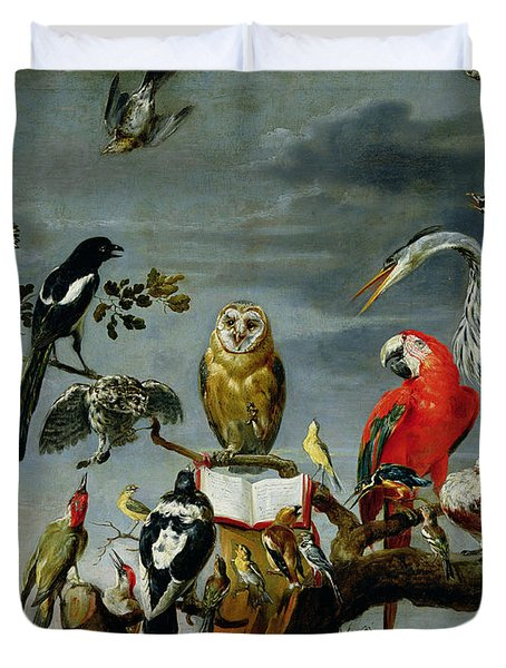Concert Of Birds Duvet Cover by Frans Snijders