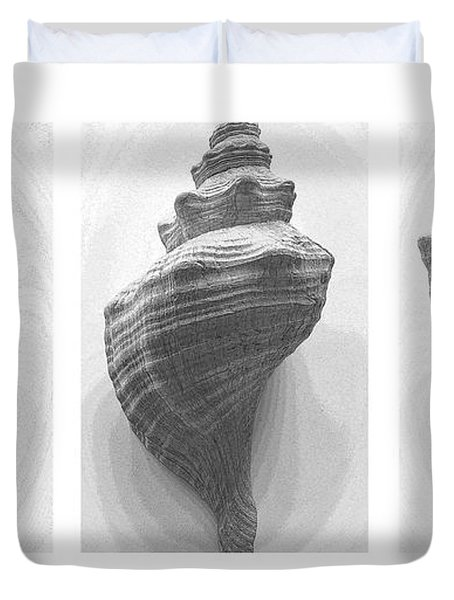 Duvet Cover featuring the photograph Conch Erotica by John Bartosik