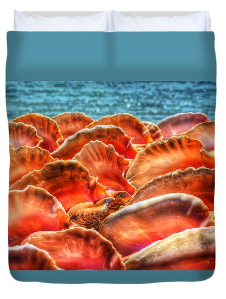 Conch Parade Duvet Cover