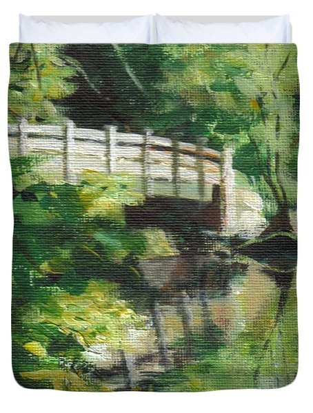 Concord River Bridge Duvet Cover