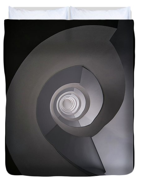 Concrete Abstract Spiral Staircase Duvet Cover by Jaroslaw Blaminsky