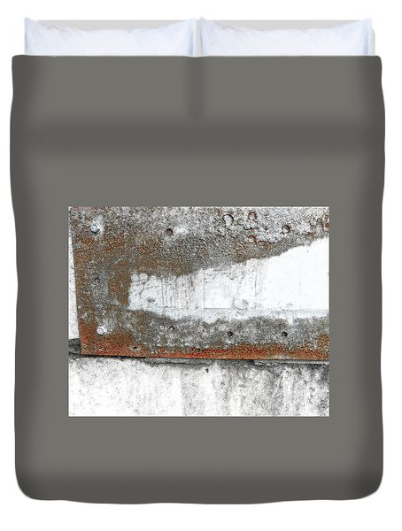 Concrete And Metal Duvet Cover by Sandra Church