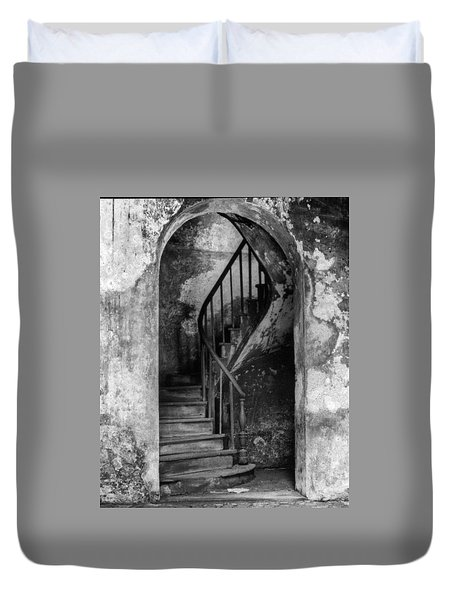Concrete And Stairwell Duvet Cover