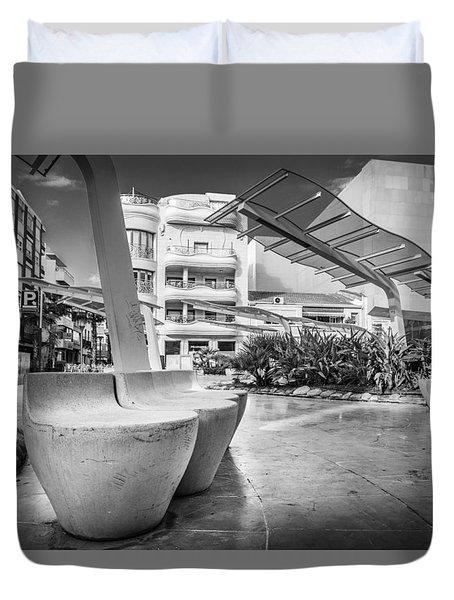 Concrete Seats. Duvet Cover