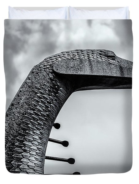 Concrete Serpent Duvet Cover