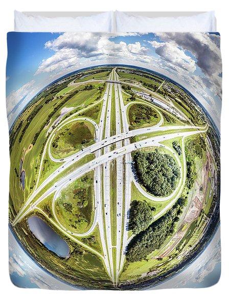 Duvet Cover featuring the photograph Concrete Spaghetti by Randy Scherkenbach