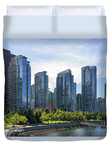 Condominium Waterfront Living In Vancouver Bc Duvet Cover by David Gn