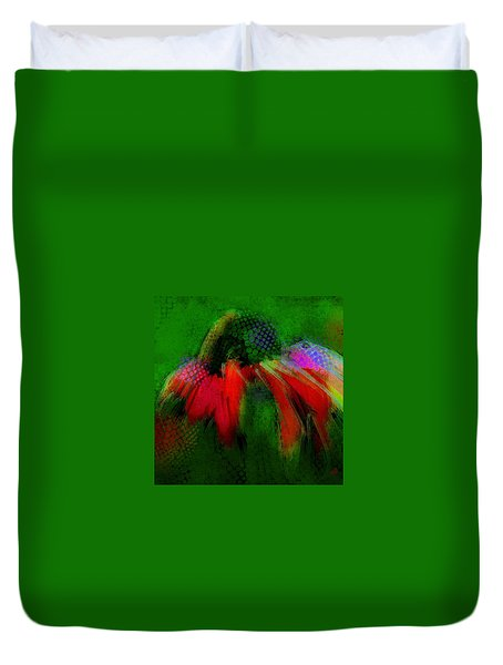 Cone Flower Aug 15 2015 Duvet Cover by Jim Vance