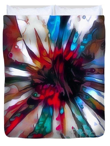 Cone Flower Fantasia I Duvet Cover