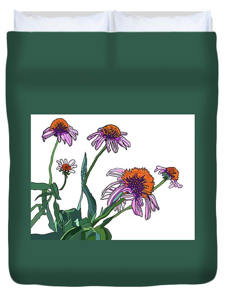 Cone Flowers Duvet Cover by Jamie Downs