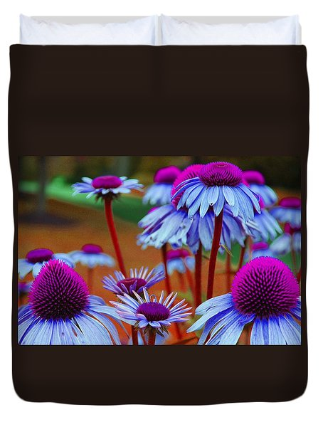 Coneflower Madness Duvet Cover by Jewels Blake Hamrick