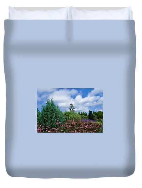 Coneflowers And Clouds Duvet Cover by Lois Lepisto