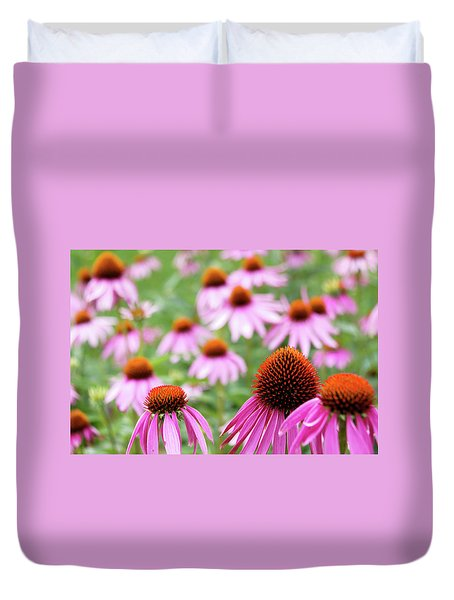 Duvet Cover featuring the photograph Coneflowers by David Chandler
