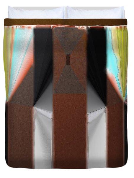 Cones Of Light Duvet Cover