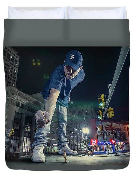 Duvet Cover featuring the photograph Coney Anyone? by Nicholas Grunas