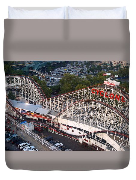 Coney Island Cyclone Duvet Cover