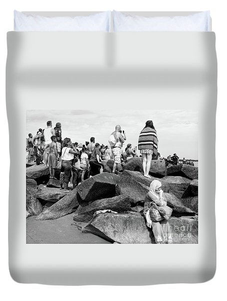 Coney Island, New York  #234972 Duvet Cover