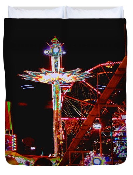 Coney Island Opening Day In Brooklyn New York Duvet Cover