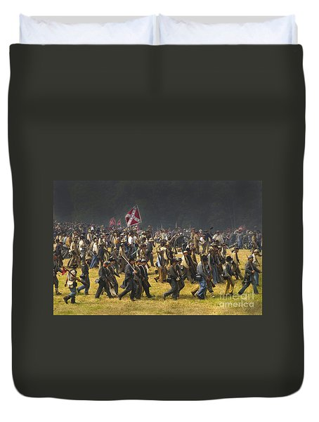 Confederate Charge At Gettysburg Duvet Cover