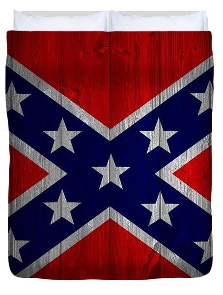 Confederate Flag Barn Door Duvet Cover