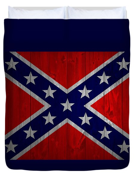 Confederate Flag Barn Door Duvet Cover