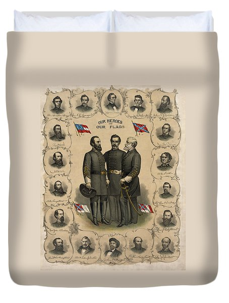 Confederate Generals Of The Civil War Duvet Cover