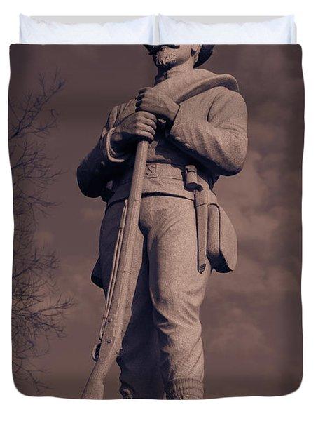 Confederate Statue  Standing Guard Duvet Cover