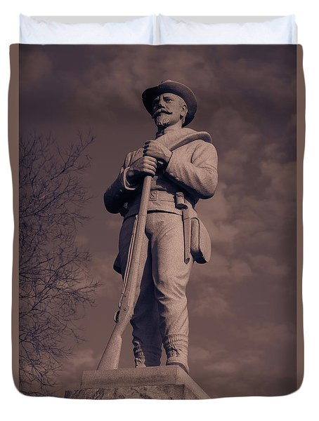 Confederate Statue  Standing Guard Duvet Cover