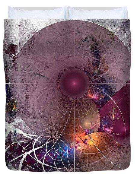 Confetti - Fractal Art Duvet Cover