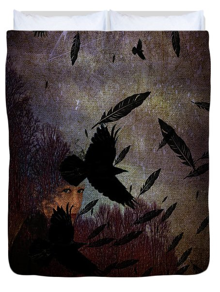 Conflict Of The Crows Duvet Cover