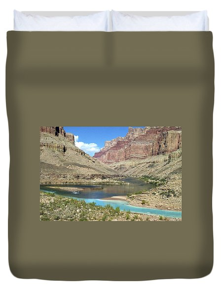 Confluence Of Colorado And Little Colorado Rivers Grand Canyon National Park Duvet Cover