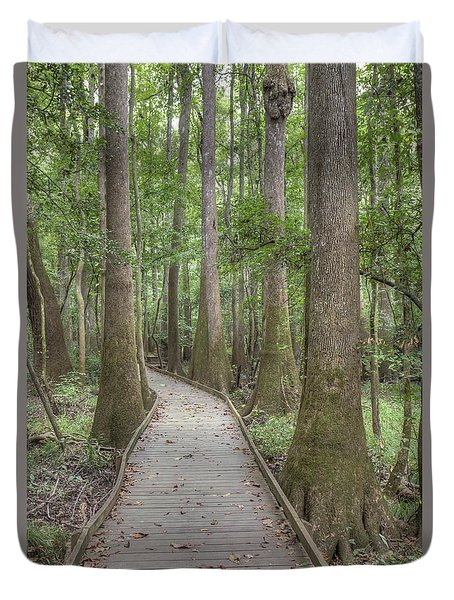Duvet Cover featuring the photograph Congaree 2017 03 by Jim Dollar