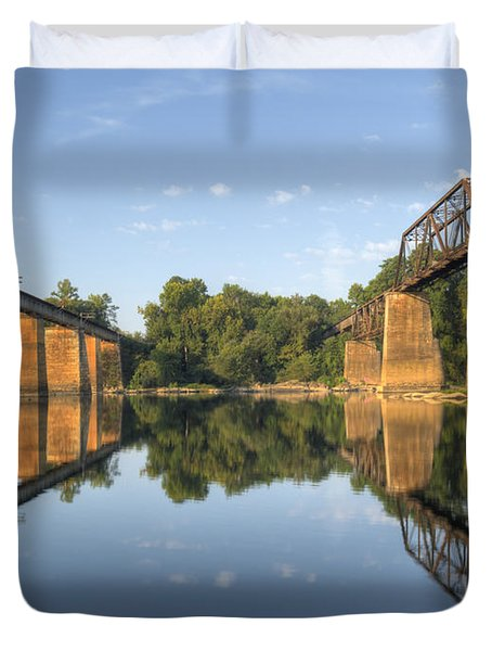 Congaree River Rr Trestles - 1 Duvet Cover